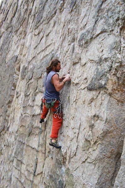 Rock Climbing Photo: Nice edges on  Burning Inside
