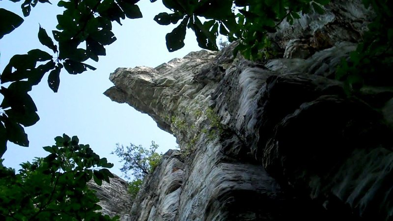 Rock Climbing Photo: The Indian Head - look up to find it looming over ...