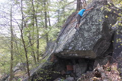 Rock Climbing Photo: Runnells keeping his head together on the committi...