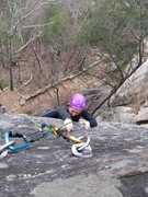 Rock Climbing Photo: Amanda near the anchors on More Fun With Dick and ...