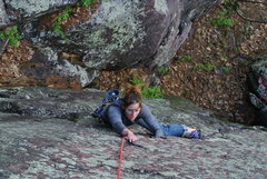 Rock Climbing Photo: Erin H's introduction to the fine finger jamming o...
