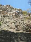 Rock Climbing Photo: JSt at the steep juggy section.