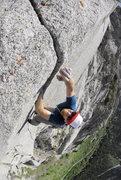 Rock Climbing Photo: Greg on Coyne Crack