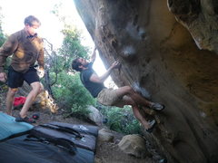 Rock Climbing Photo: Once finished with the Zombie crux, get psyched fo...