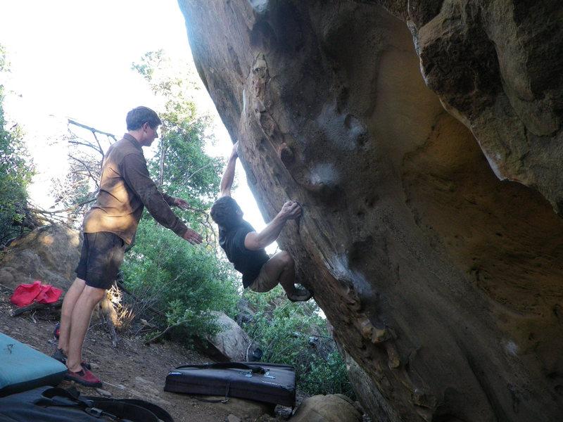 Rock Climbing Photo: Almost through 1st crux