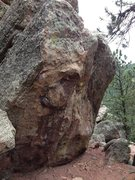 Rock Climbing Photo: Fingers Boulder seen coming from the Alamo area an...