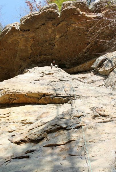 Rock Climbing Photo: Not sure which climb this is.  Probably a 5.8 or s...