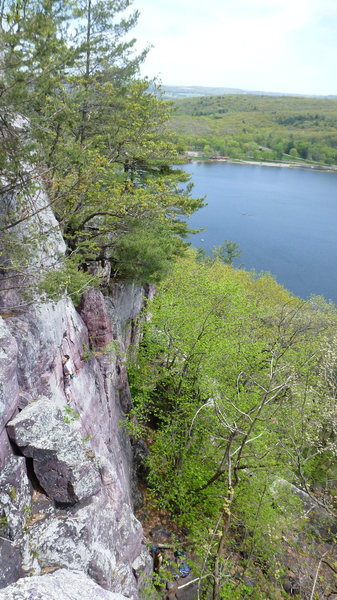 Rock Climbing Photo: Clayton Groth on the sharp end.