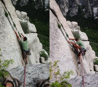 Rock Climbing Photo: A little visual-beta for the tricky start of this ...