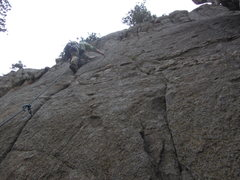Rock Climbing Photo: Fun moves on Quick Chill.  Short but good.