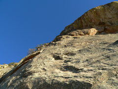 Rock Climbing Photo: Near the end of the traverse on P.3