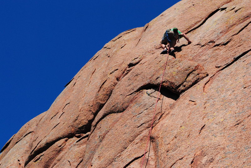 Rock Climbing Photo: Topping the Worm Hole
