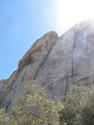 Rock Climbing Photo: Adra approaching the cave on Dung Fu. Beautiful ro...