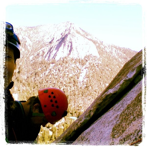 Rock Climbing Photo: on Suicide Rock with Tahquitz in view