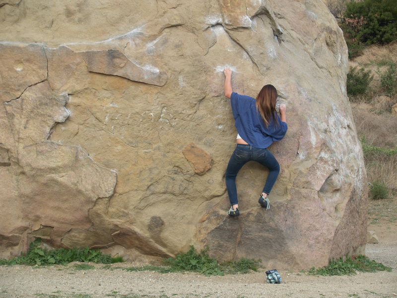my youngest daughter.  Boulder 1 Stoney point