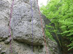 Rock Climbing Photo: Waggerla in Yellow, Rechte Kante in Red, Bierkutsc...