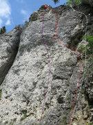 Rock Climbing Photo: Arrabiata in purple, NWW in red, and Engel/RK in w...