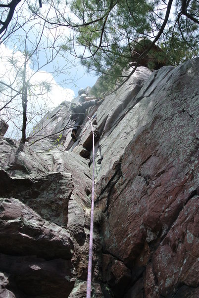 Rock Climbing Photo: Mike Sohasky leading route 9 page 150 of CGTDL as ...