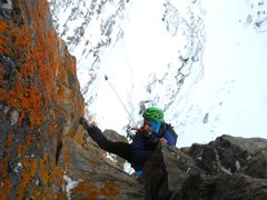 Rock Climbing Photo: Pulling the last roof and heading to the top. Stee...