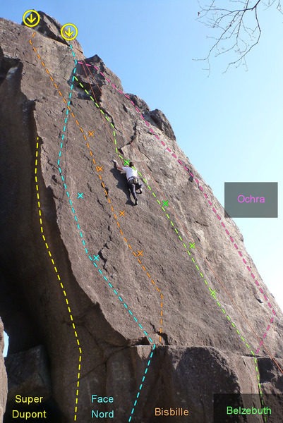Rock Climbing Photo: North face of the needle. Super Dupont 5.11a/5.12c...