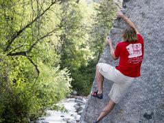 Rock Climbing Photo: TK on Big Guys in LCC