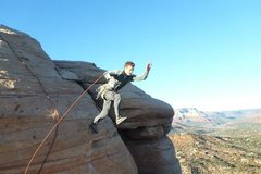Rock Climbing Photo: Jumping across the mace gap with a PBR