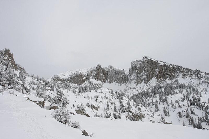 Rock Climbing Photo: Lone Peak cirque 1/13/13