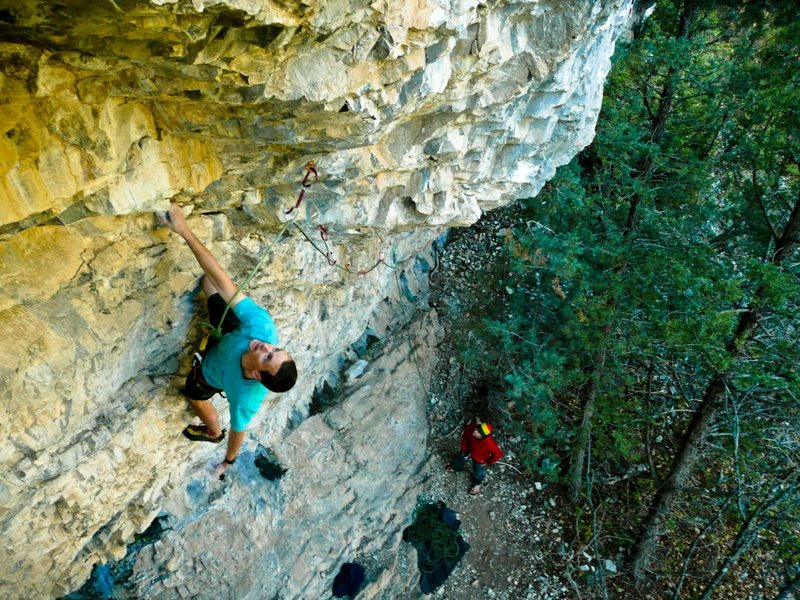 Rock Climbing Photo: Getting ready for Crux #2