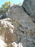 GrzB. leading the Face in the shade while the belayer is in the sun.