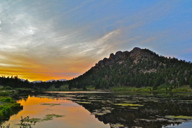Lily Lake sunset.