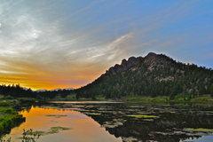 Rock Climbing Photo: Lily Lake sunset.