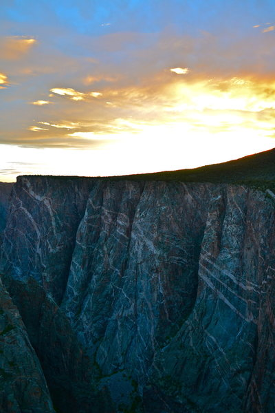 Rock Climbing Photo: Black Canyon sunset.