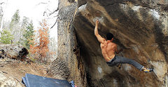 Rock Climbing Photo: Sending Stir The Pie V8