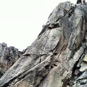 Rock Climbing Photo: Bad Daddy is the prominent crack system in the cen...