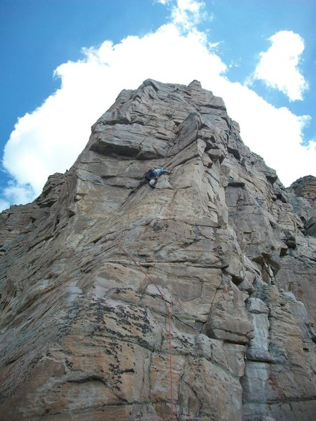 First ascent of pitch 1.