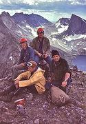 Rock Climbing Photo: Jim W., Hoxie S., Jack R. Pete Nichols on the summ...