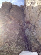 Rock Climbing Photo: Pitch two groove. This is a sustained groove with ...