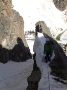 Rock Climbing Photo: This is Brent at the gendarme belay at the top of ...