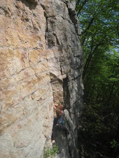 Rock Climbing Photo: Leading P1 of Ursula on May 16, 2013.
