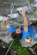 Rock Climbing Photo: Joe Kinder on the lower section