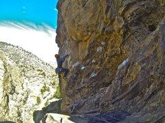 Rock Climbing Photo: Crux traverse.