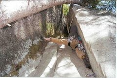 Rock Climbing Photo: Start of the second pitch of School, Work, and Reh...