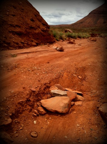 Rock Climbing Photo: Repairing the road...