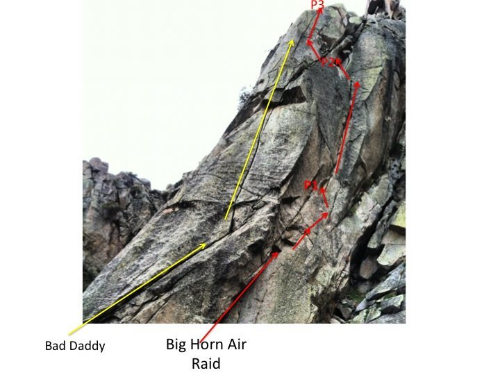 Overview photo for Bad Daddy (10b) and Big Horn Air Raid (5.11b or 5.10 A0)