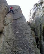 Rock Climbing Photo: The quite enjoyable second pitch