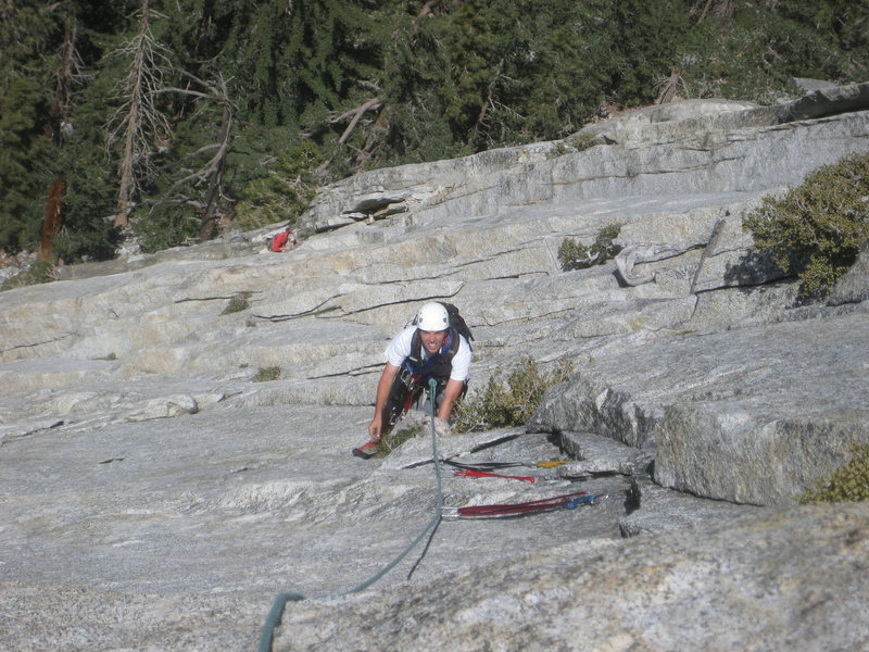 Rock Climbing Photo: Mike Margala on pitch 3, just before undercling on...