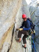 Rock Climbing Photo: Who is that masked super hero cleaning out loose b...