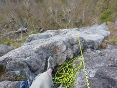 Rock Climbing Photo: This is where we belayed the fist pitch from. Ther...