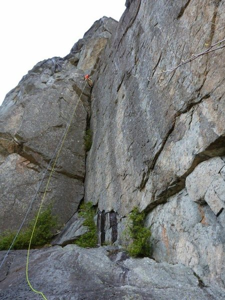 Rock Climbing Photo: The rappel took two 60 mm ropes. I believe there a...