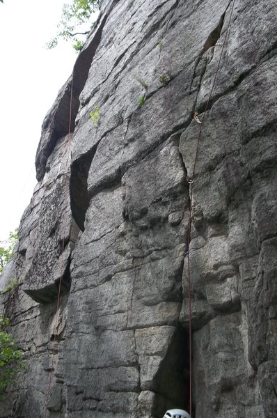 Great crux sequence getting to the third piece of protection